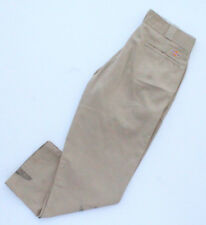 Dickies 874 Ropa De Trabajo Pantalones De Hombre Beige Usado W34 L29 (DI56)