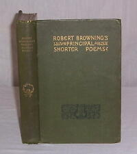 ROBERT BROWNING'S PRINCIPAL SHORTER POEMS 1890 Lovely Edition!