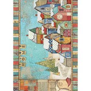 Rice Paper - Decoupage - Stamperia - 1 x A4 Size Sheet - Snowy Landscape