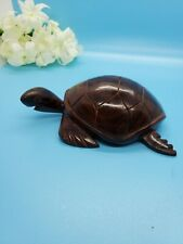 Solid Wood Carved Turtle Beautiful