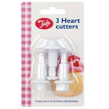 New 3 Heart Plunger Cutters for Icing Sugarpaste Sugar Cake Baking Craft by Tala