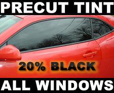 Chevy Silverado, GMC Sierra Crew Cab 2007-2013 PreCut Window Tint Black 20%