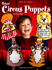 Plastic Canvas CIRCUS PUPPETS 4 Puppet Designs The Needlecraft Shop BOOK