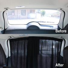 2× Polyester Car Rear Curtain Sunshade Cover UV Sun Visor Block Universal Black