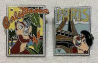 2008 Hidden Mickey Chip N Dale Postcards California & Paris Disney Pin Lot 61744