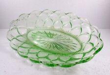 alte ovale Glasschale, hellgrün, ca. 37 x 23 x 6 cm