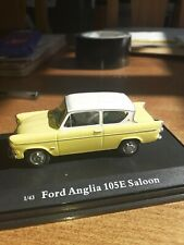 Cararama - FORD ANGLIA 105E Saloon (Yellow / White) Model Scale 1:43