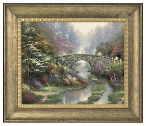 Thomas Kinkade Stillwater Bridge 16 x 20 Brushstroke Vignette (Framed)