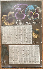 carte postale calendrier 1917