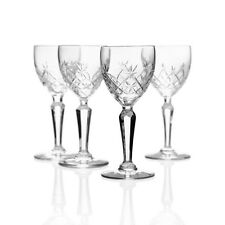 Kosta (Attr) - 4x Antique Cut Crystal 'Pfeiffer' Liqueur Glasses - 1890 Swedish