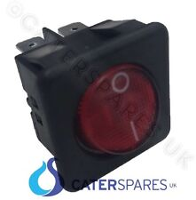 16A ROSSO NEON ROCKER SWITCH POWER ON OFF BIPOLARE 4 PIN 25X25 SQUARE IP40