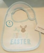 Carters My First Easter Bib White