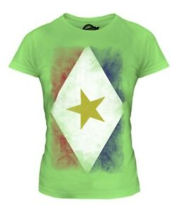 SABA FADED FLAG LADIES T-SHIRT TEE TOP FOOTBALL GIFT SHIRT CLOTHING JERSEY