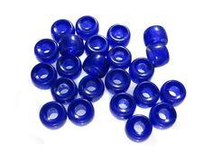 Fine Trade Czech Translucent Cobalt Blue Crew Roller Bohemian Glass Beads