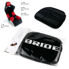 1 Pcs Jdm Bride Black Head Tuning Pad For Head Rest Cushion Bucket Racing Seat