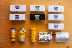 analog Rollfilm 120 Ilford Delta 3200 100 HP5 Kodak Tri-X T-Max 100 Rollei Retro