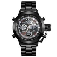 SKMEI Men's Stainless Steel Military Digital Analog Dual Time Sport Quartz Watch