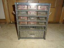 Vintage Metal multi Drawer Small Parts Cabinet Storage Organizer Industrial