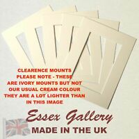 CLEARANCE - JOBLOT Packs of 50 Picture Frame Photo Mounts - IVORY (Cream Core)