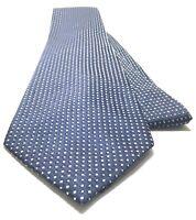 CALVIN KLEIN Necktie Tie 100% Silk Blue, Gray Polka Dot