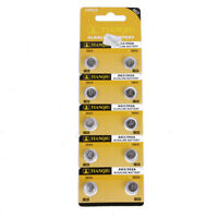 10pcs AG3 Battery 384 392 SR41W SR41 L736 Coin Cell Button Batteries 1.5V