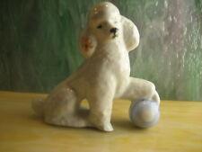 CCCP Vintage LOMONOSOV SOVIET PUDEL DOG Porcelain Figurine Porzellan Figur