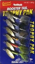 (6) New Worden's Rooster Tail 1/4 oz Trophy Pak Spinner Bait Lot Trout Bass