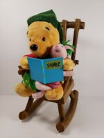 Disney Winnie the Pooh and Piglet Musical Plush Rocking Chair Christmas Gemmy