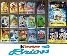 FERRERO KINDER SORPRESE BRIOSS DIGIMON CARDS CON EVOLUZIONE 15 TO COLLECT 1999