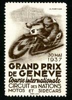 France Stamps VF 1937 Grand Prix Label