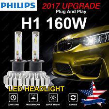 16000LM 160W H1 LED Headlight Bulbs CSP Lamp Conversion Kit 6500K Canbus US