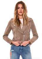 Blank NYC Suede Moto Sand Stoner Jacket Women's Size Small 85863