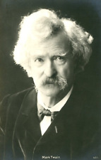 Mark Twain Vintage carte photo, Mark Twain, de son vrai nom Samuel Langhorne C