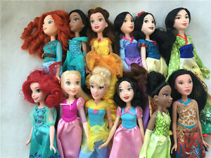 "Disney Princess Royal Shimmer 11"" Doll Merida/Mulan/Tiana/Rapunzel New Loose"