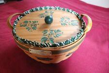 1999 Christmas Pop Corn Basket & hand-painted lid