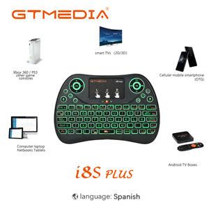 Mini retroiluminación de teclado inalámbrico de mano GTmedia I8 para Android Box