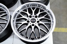 "17"" Wheels Bimmer BMW 128 135 228 230 318 320 323 325 328 340 Black Rims 5x120"