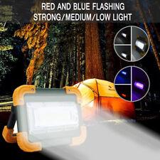 4x 2200 mAh LED COB USB Rechargeable Flood Light Camping Work Spot Lamp Portable