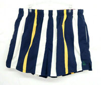 Vintage 90s Nautica Striped Colorblock Spell Out Swim Shorts Trunks Mens Large