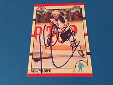 Kevin Lowe Oilers 1990-91 Score Signed Auto Card