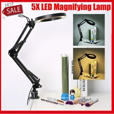 5X LED Magnifying Lamp With Clamp Craft Glass Loupe Lab Work Light Magnifier HOT