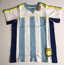NWT Gymboree Crazy 8 Size M 7-8 Kids Blue Stripe Argentina Soccer Jersey Tee