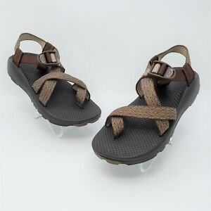 Chacos Womens Brown Stripped Outdoor Hiking Trail Sandals Size 7