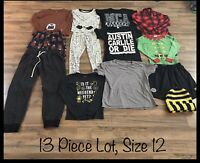 Boys Clothing Lot, 13 Items, Size 12, Wondershop, Carter's, Pjs, Sweats, Shorts