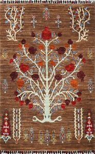 Vegetable Dye Geometric Super Kazak Oriental Area Rug Hand-knotted Wool 3'x4'
