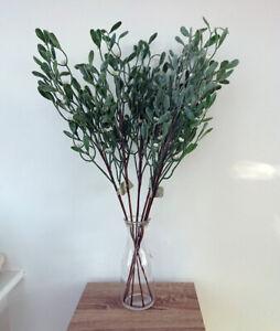 Artificial Mistletoe Stems - Bundle of 6 - Festive Flowers