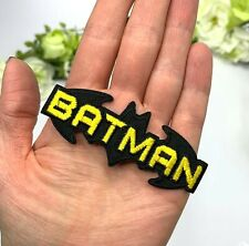 Batman Patch Iron On Sew On Bat Wings Marvel Superhero Embroidered Black Party