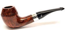 Peterson Sherlock Holmes Deerstalker Silver Mounted Pipe, 9mm Filter version