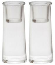 2 x Yankee Candle Large Glass Cylinder with Votive Sampler Inserts Holder