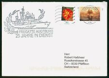 Mayfairstamps Germany Fregatte Augsburg Tagetes Flower Cover wwp_92057